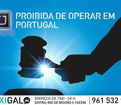 UBER proíbida de operar em Portugal
