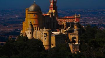 Vista noturna do Palácio da Pena - Sintra